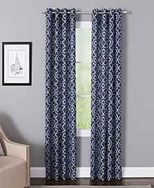 "Bennett 50"" x 84"" Geometric Print Curtain Panel"