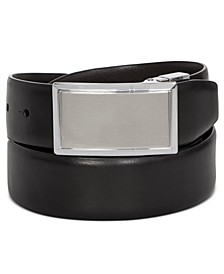 CLOSEOUT! Men's Shiny Leather Reversible Plaque Belt