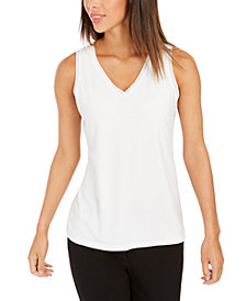 Charter Club Crepe Tank Top, Created for Macy's