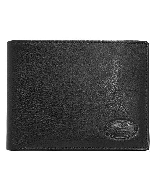 Mancini Manchester Collection Men's RFID Secure Billfold with Removable Center Wing Passcase