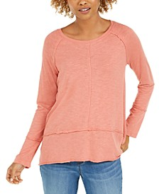 Cotton High-Low Top, Created for Macy's