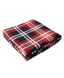 Flannel Plaid Reversible Duvet Cover, Twin
