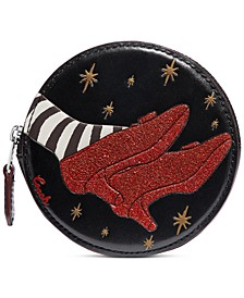 Leather Wizard Of Oz Round Coin Case