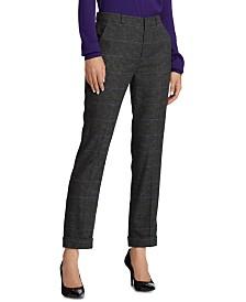 Lauren Ralph Lauren Straight Wool-Blend Pants
