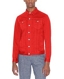 Men's Slim-Fit Stretch Blouson Jean Jacket