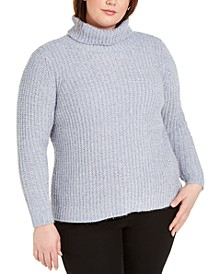 Plus Size Metallic-Knit Sweater