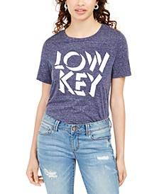 Juniors' Low Key Marled Graphic T-Shirt