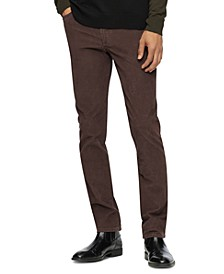 Men's Slim-Fit Stretch Corduroy Pants