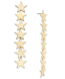 Gold-Tone Linear Star Earrings, Created For Macy's