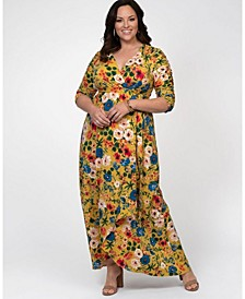 Women's Plus Size Meadow Dream Maxi Dress