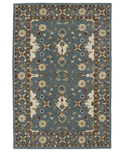 Kaleen Middleton MID01-91 Teal 9' x 12' Area Rug