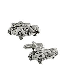 1928 Jewelry Silver-Tone Car Cufflinks