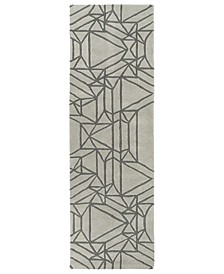 """Origami ORG04-88 Mint 2'6"""" x 8' Runner Rug"""