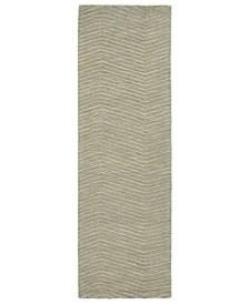 """Textura TXT05-50 Green 2'6"""" x 8' Runner Rug"""