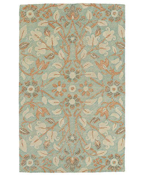 Kaleen Weathered WTR04-78 Turquoise 8' x 10' Area Rug