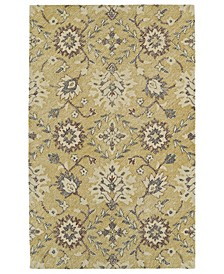 Weathered WTR07-05 Gold 2' x 3' Area Rug
