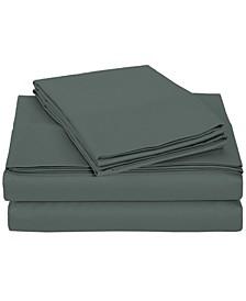 University 6 Piece Gray Solid Full Sheet Set