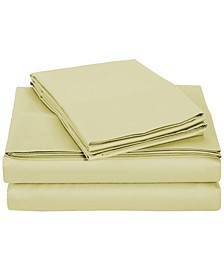 University 6 Piece Tan Solid Queen Sheet Set