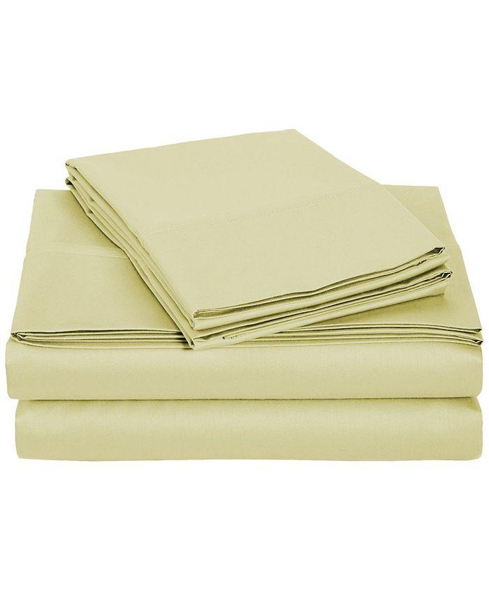 Universal Home Fashions - University 6 pc Tan Solid Queen Sheet Set