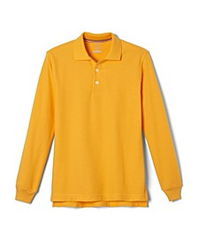Little Boys Long Sleeve Pique Polo Shirt