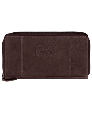 Casablanca Collection Rfid Secure Zippered Clutch Wallet