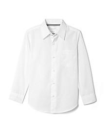 Big Boys Long Sleeve Dress Shirt with Expandable Collar