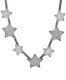 Steve Madden Rhinestone Star Snake Chain Necklace