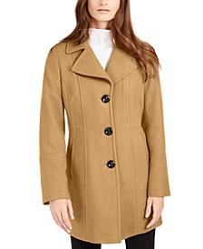 Petite Single-Breasted Walker Coat