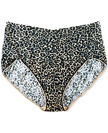Women's Plus Size Leopard-Print Lace V-kini 2X2124X