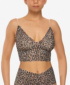 Women's Leopard-Print Retro Longline Bralette 2X7474