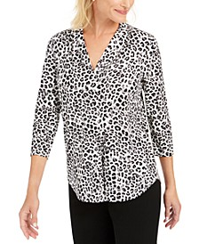 Petite Animal-Print Top, Created For Macy's
