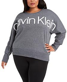 Plus Size Dolman-Sleeve Logo Sweatshirt