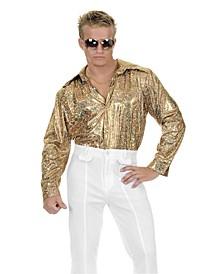 BuySeason Men's Glitter Disco Shirt Costume