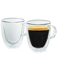 Milano Double-Wall Glassware Coffee Mug - Set of 2