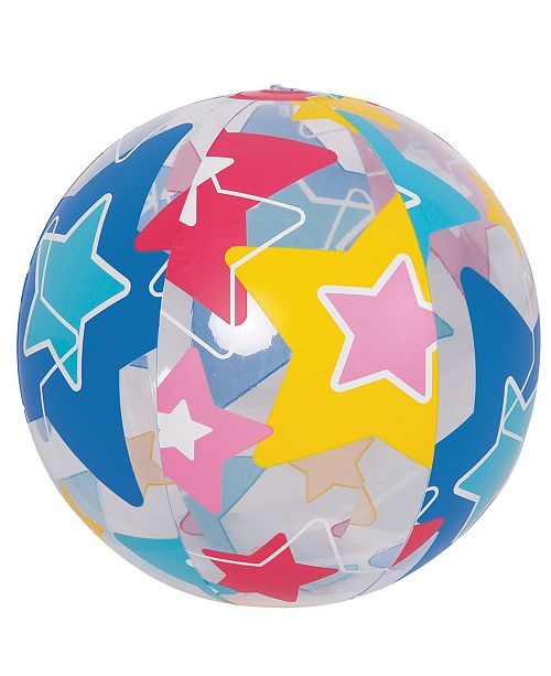 """Northlight 20"""" Inflatable Bright Star Beach Ball Swimming Pool Toy"""
