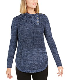 Petite Envelope-Neck Sweater, Created for Macy's