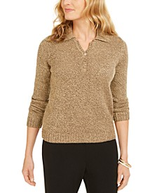 Petite Collared Sweater, Created for Macy's