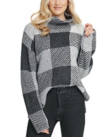 Striped High-Low Hem Sweater
