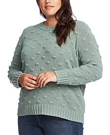 Plus Size Crewneck Popcorn Sweater
