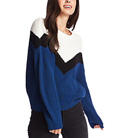1.STATE Cotton Colorblocked Sweater