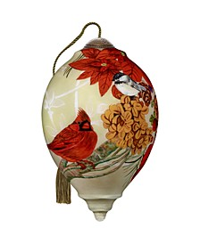 The NeQwa Art Christmas Meadow hand-painted blown glass Christmas ornament