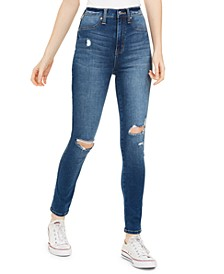 Juniors' Distressed High-Rise Jeans
