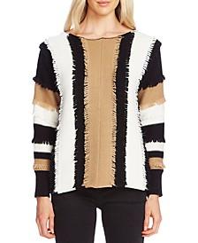 Colorblocked Fringe Sweater