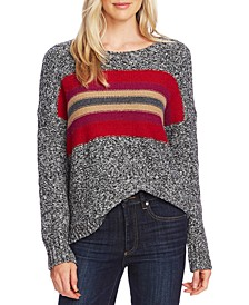 Colorblocked Stripe Sweater