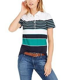 Banner-Stripe Polo Shirt