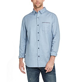 Men's Twill Button-Down Shirt