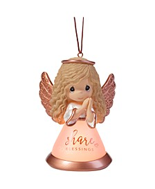 Precious Moments Share Blessings Resin And Glass LED Angel Ornament