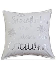 "Hinley Snowflake 20"" x 20"" Decorative Pillow"
