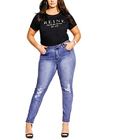 Trendy Plus Size Harley Torn Skinny Jeans
