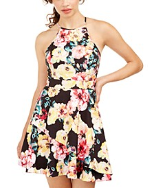 Juniors' Allover Print Dress